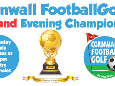 Cornwall FootballGolf 2015 Parkland Course Evening Championship, Wednesday 1st July