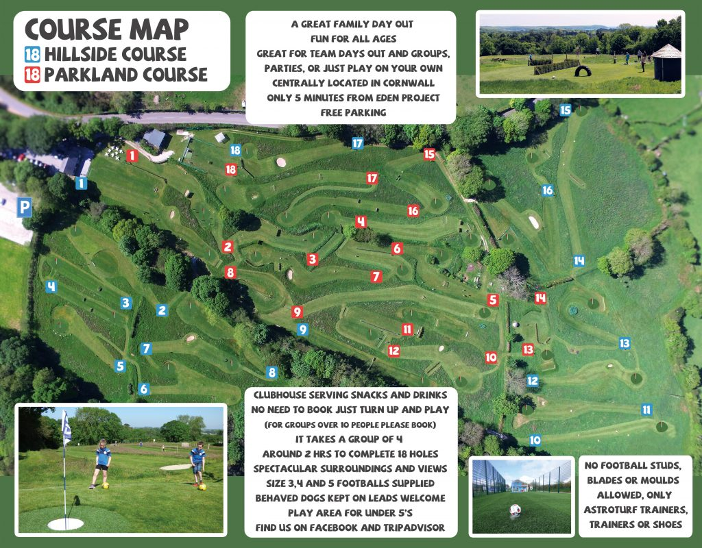 Cornwall FootballGolf Course Map